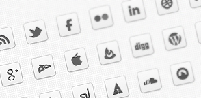 Mono DC &#8211; Monochrome Social Icons